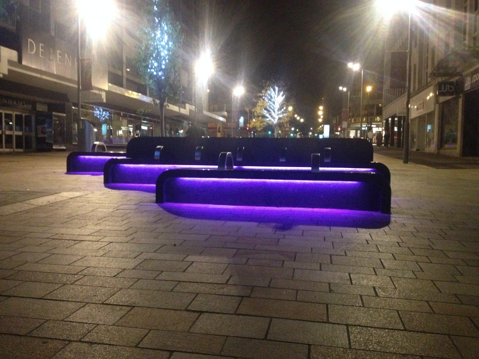 The Moor Sheffield Rgb Led Bench Lighting Ark Ltd