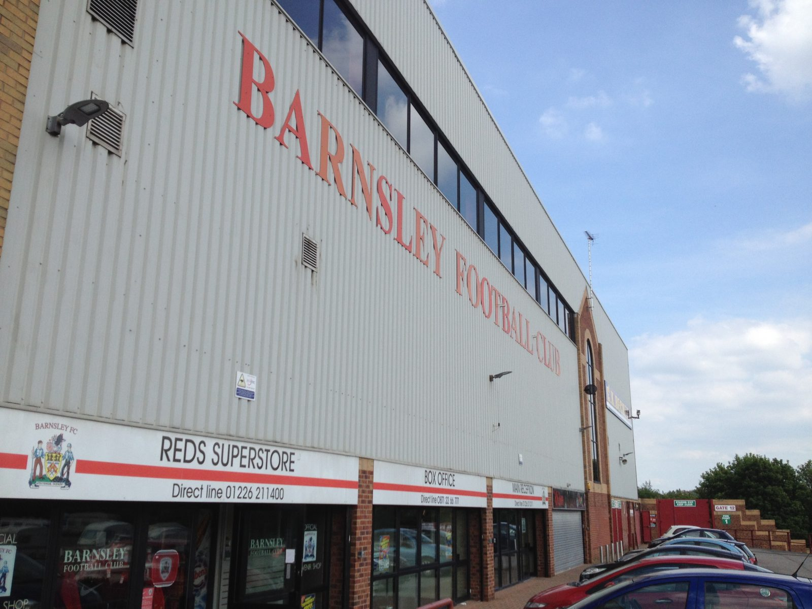 Barnsley FC - main entrance